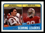 1988 Topps #218   -  Jerry Rice / Jim Breech Scoring Leaders Front Thumbnail