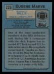 1988 Topps #229  Eugene Marve  Back Thumbnail