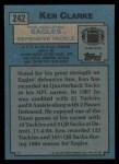 1988 Topps #242  Ken Clarke  Back Thumbnail