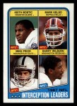 1988 Topps #219   -  Keith Bostic / Mark Kelso / Mike Prior / Barry Wilburn Interception Leaders Front Thumbnail