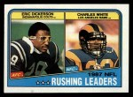 1988 Topps #217   -  Eric Dickerson / Charles White Rushing Leaders Front Thumbnail