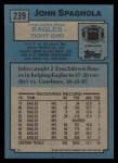 1988 Topps #239  John Spagnola  Back Thumbnail