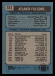 1988 Topps #383   Falcons Leaders Back Thumbnail