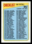 1988 Topps #395   Checklist 133-264 Front Thumbnail