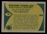 1989 Topps #41  Shane Conlan  Back Thumbnail