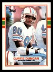 1989 Topps #92  Curtis Duncan  Front Thumbnail