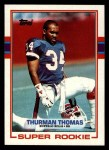 1989 Topps #45  Thurman Thomas  Front Thumbnail