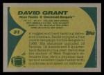 1989 Topps #31  David Grant  Back Thumbnail