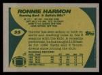 1989 Topps #55  Ronnie Harmon  Back Thumbnail