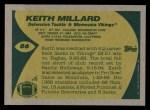 1989 Topps #86  Keith Millard  Back Thumbnail