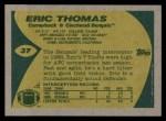 1989 Topps #37  Eric Thomas  Back Thumbnail