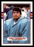 1989 Topps #99  Tony Zendejas  Front Thumbnail