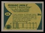 1989 Topps #82  Issiac Holt  Back Thumbnail