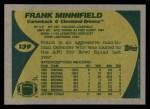 1989 Topps #139  Frank Minnifield  Back Thumbnail