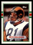 1989 Topps #124  Pete Holohan  Front Thumbnail