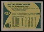 1989 Topps #124  Pete Holohan  Back Thumbnail
