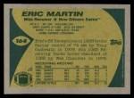 1989 Topps #164  Eric Martin  Back Thumbnail