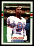 1989 Topps #102  Sean Jones  Front Thumbnail