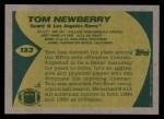 1989 Topps #123  Tom Newberry  Back Thumbnail
