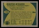 1989 Topps #112  Keith Byars  Back Thumbnail