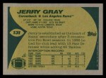1989 Topps #131  Jerry Gray  Back Thumbnail