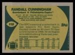 1989 Topps #115  Randall Cunningham  Back Thumbnail