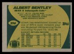 1989 Topps #216  Albert Bentley  Back Thumbnail