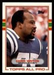 1989 Topps #207  Chris Hinton  Front Thumbnail