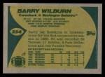 1989 Topps #254  Barry Wilburn  Back Thumbnail