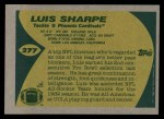 1989 Topps #277  Luis Sharpe  Back Thumbnail