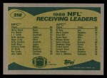 1989 Topps #218   Receiving Leaders Back Thumbnail