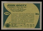 1989 Topps #226  John Booty  Back Thumbnail