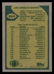 1989 Topps #264   Raiders Leaders Back Thumbnail