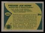 1989 Topps #286  Freddie Joe Nunn  Back Thumbnail