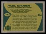 1989 Topps #333  Paul Gruber  Back Thumbnail