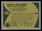 1989 Topps #357  Paul Palmer  Back Thumbnail