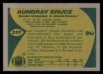 1989 Topps #337  Aundray Bruce  Back Thumbnail