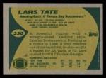 1989 Topps #330  Lars Tate  Back Thumbnail