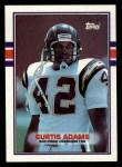 1989 Topps #312  Curtis Adams  Front Thumbnail
