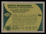1989 Topps #375  Keith Woodside  Back Thumbnail