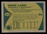 1989 Topps #343  Gene Lang  Back Thumbnail
