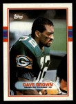 1989 Topps #377  Dave Brown  Front Thumbnail