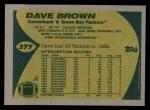 1989 Topps #377  Dave Brown  Back Thumbnail
