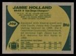 1989 Topps #308  Jamie Holland  Back Thumbnail