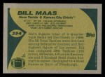 1989 Topps #354  Bill Maas  Back Thumbnail