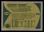 1989 Topps #378  Perry Kemp  Back Thumbnail