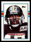 1989 Topps #319  Warren Williams  Front Thumbnail