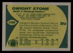 1989 Topps #320  Dwight Stone  Back Thumbnail