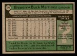 1979 Topps #243  Buck Martinez  Back Thumbnail