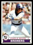 1979 Topps #408  Charlie Moore  Front Thumbnail